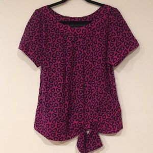 Mark By Mark Jacobs Heart Print Top Size M